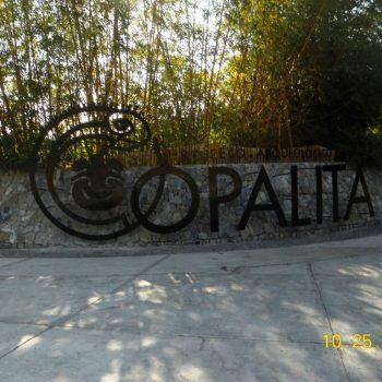 letreo de acceso Copalita Huatulco Oaxaca