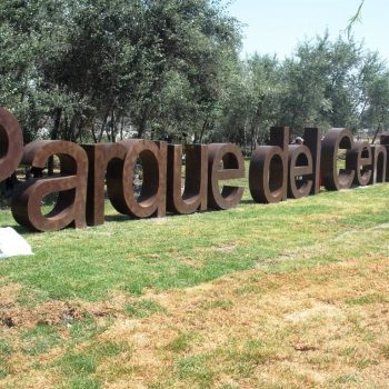 letrero acceso Parque Chapulco